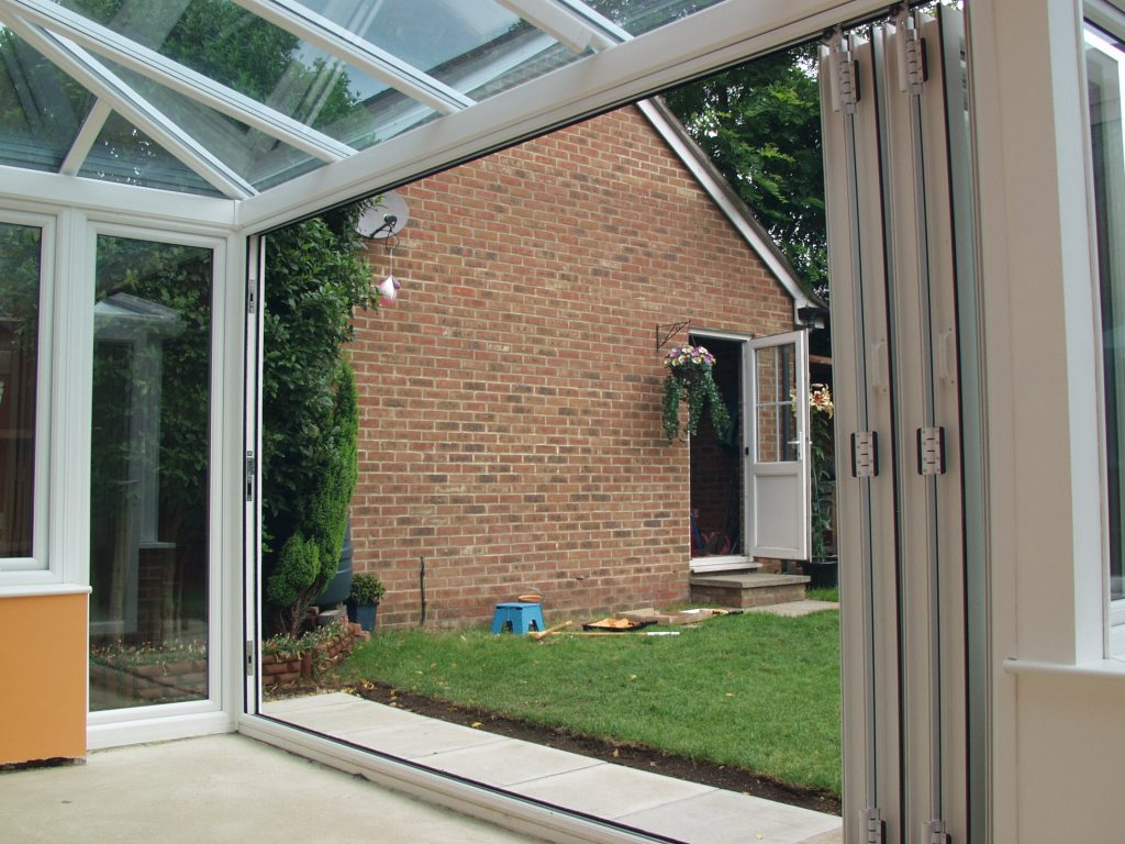 Double glazed bifold patio door quotes for Double entry patio doors